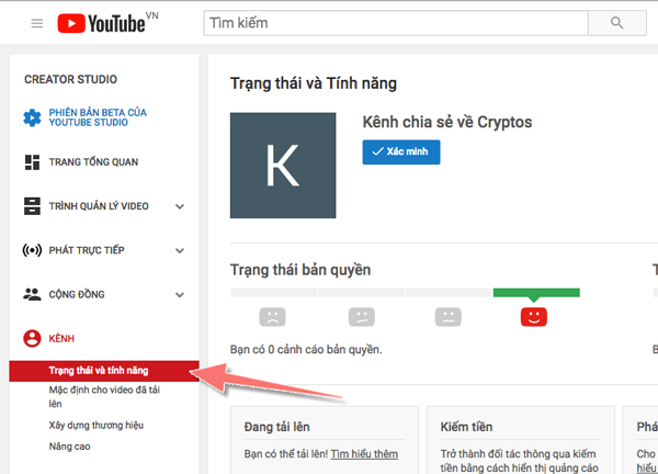 cach xac minh kenh youtube