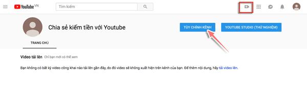 tao kenh youtube thanh cong