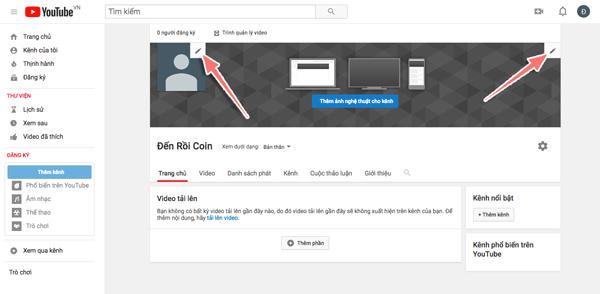 cai dat kenh youtube